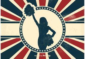 Vintage Cheerleader Background