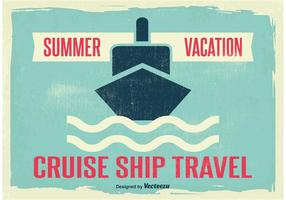 Illustration Vintage Cruise Liner