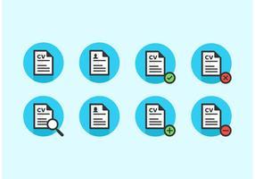 Curriculum Vitae Vektor Icons kostenlos