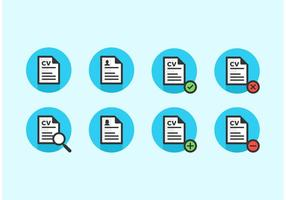 Les icônes vectorielles du curriculum vitae gratuites