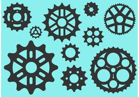 Bike Sprocket Free Vector Silhouettes