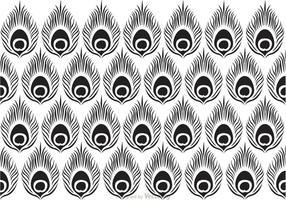 Peacock Negro Patrón Vector
