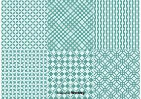 Geometric Green Background Patterns