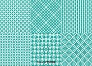 Geometric Green Background Patterns