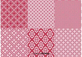 Geometric Red Background Patterns