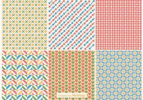 Geometric Retro Background Patterns vector
