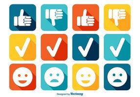 Like and Dislike Icon Set