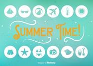 Summer Time Flat Icons