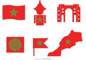 Morocco Element Icons Vector