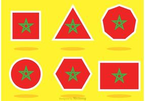 Olikformade Marocko Flaggvektorer