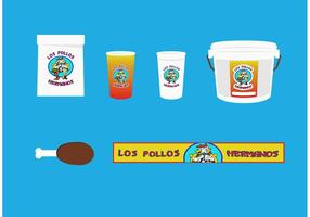 Los pollos hermanos vector set