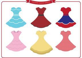 Vecteurs de robe de danse carrée