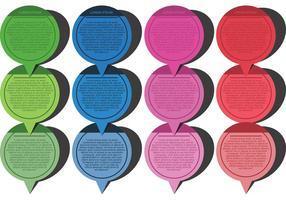 Zeiger Textfeld Vorlagen Vektoren