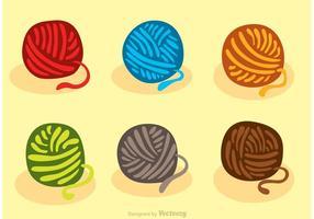 Boule colorée de vecteurs de fil