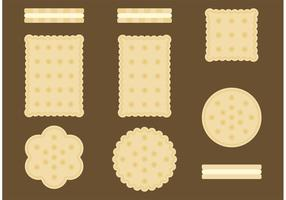 Vecteurs de biscuits à thé élevés