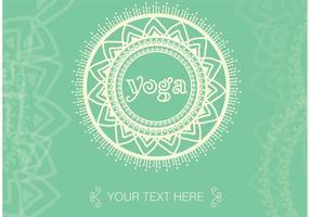 Boho Yoga Meditation Vector Bakgrund