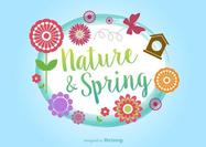 Springtime Typographic Vector Background