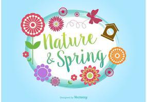 Frühling Typografischer Vektor Hintergrund
