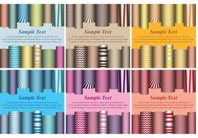 Scrolled Paper Card Vectors