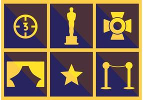 Walk of Fame Vektor Icon Set
