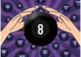Magic 8 Ball Vector Illustration