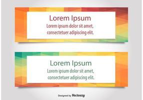 Moderne Tekst Web Banner Vectoren
