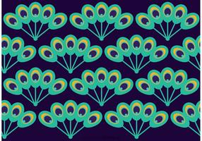 Peacock Beautiful Tail Pattern Vector