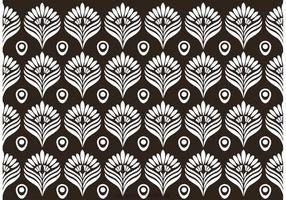 Blanco y negro patrón de pavo real Vector