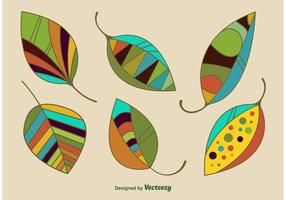 Vetores de folhas geométricas modernas