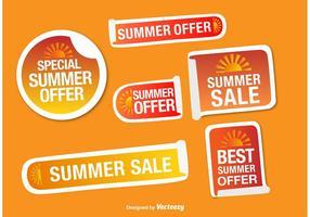 Vetores de etiqueta de promoções de verão