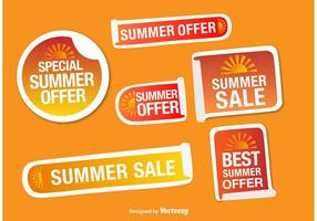Vectores de etiqueta de ofertas de verano