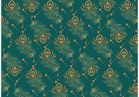 Teal Peacock pattern vector