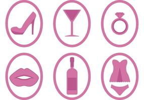Bachelorette Party Icon Vectors