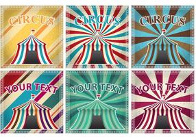 Vintage Big Top Vector Cards