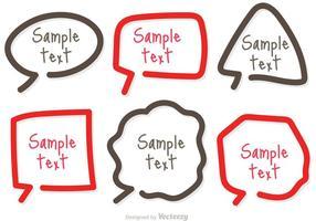 Text Box Template Simple Line Vectors