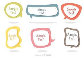 Vetores coloridos da bolha do texto