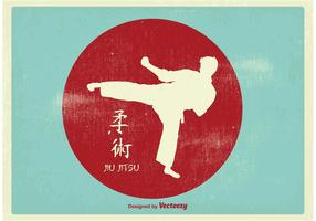 Illustrazione di karate vintage