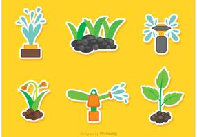 Vectores del aspersor del jardín y del césped