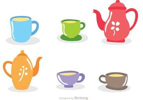 High Tea Set Vectors