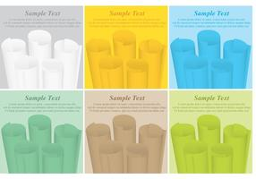 Scrolled Paper Vector Templates