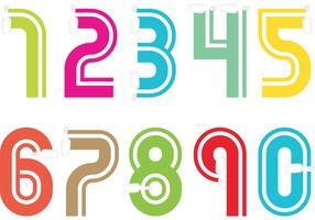 Vectores de números de papel desplazados