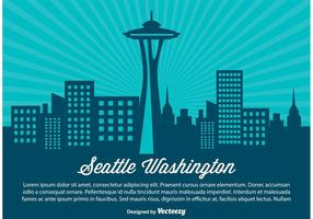 Illustration de seattle skyline