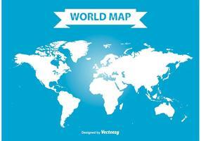 Carte du monde vectoriel