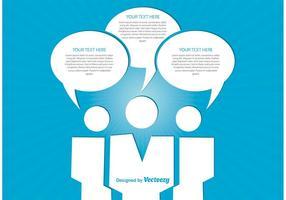 Geschäftskommunikation Illustration