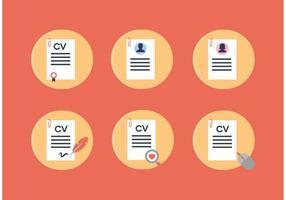 Curriculum Vitae Vektor Icons