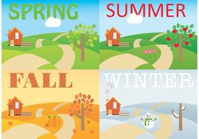 Seasonal Rolling Hills Vectors