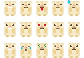 Guinea Pig Emoticon Vectors