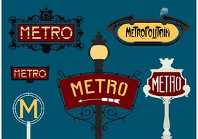 Paris Metro Gratis Vector
