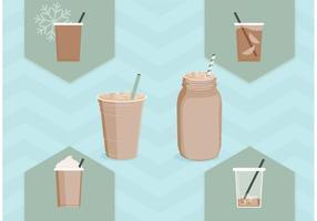 Vecteurs libres de café glacé