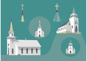 Vectores livres da igreja do país vetor